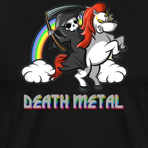 Death Metal Einhorn - Unicorn mit Regenbogen - Männer Premium T-Shirt