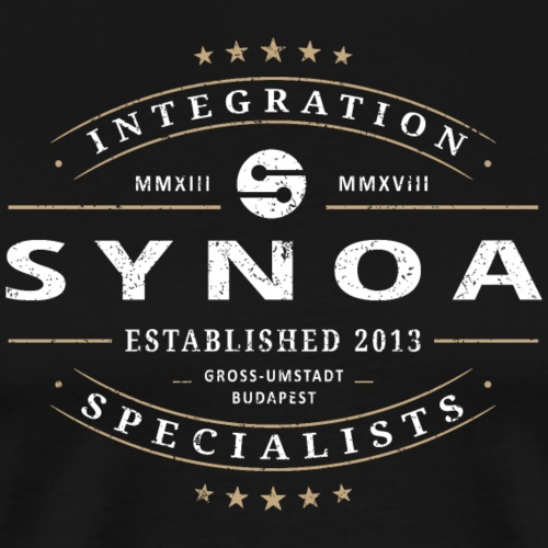 Synoa Integration Specialists, Grunge Style - Men's Premium T-Shirt