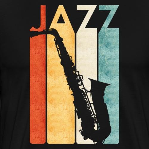 Jazz Saxophon Retro - Männer Premium T-Shirt