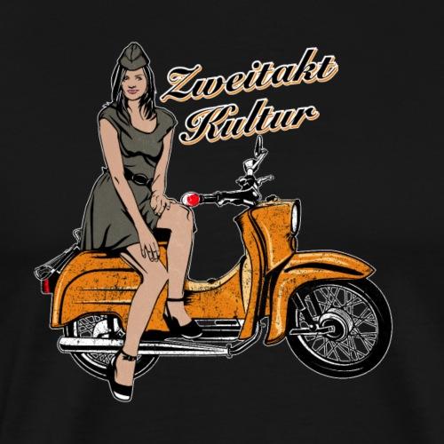 Simson Schwalbe KR51 Vintage Retro Verkehrsorange - Männer Premium T-Shirt