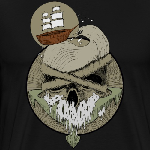 Ancre skull - T-shirt Premium Homme