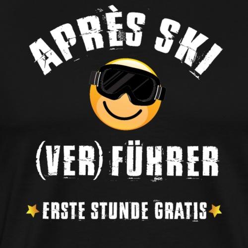 skifahren winter ski apres-ski geschenk party - Männer Premium T-Shirt