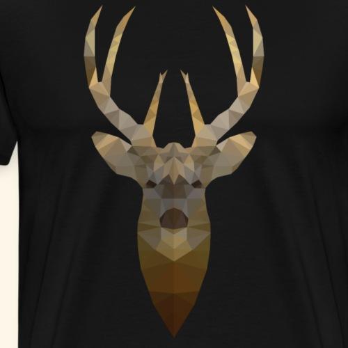 Rendier - Low Poly 2D - Mannen Premium T-shirt