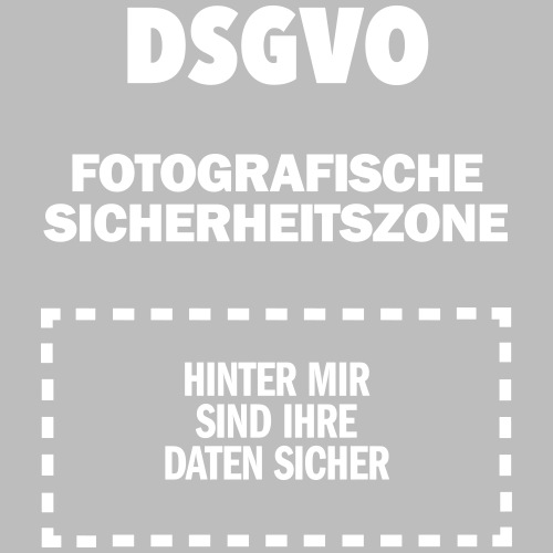 DSGVO-Foto weiß HINTEN - Männer Premium T-Shirt