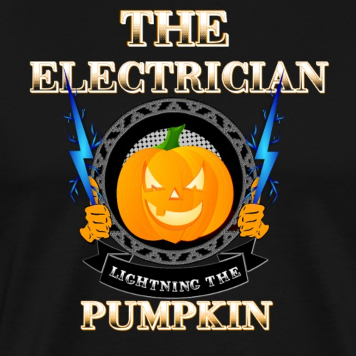 The Electrican lightning the Pumpkin - Männer Premium T-Shirt