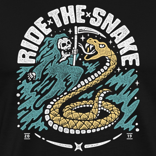 ride the snake - Männer Premium T-Shirt