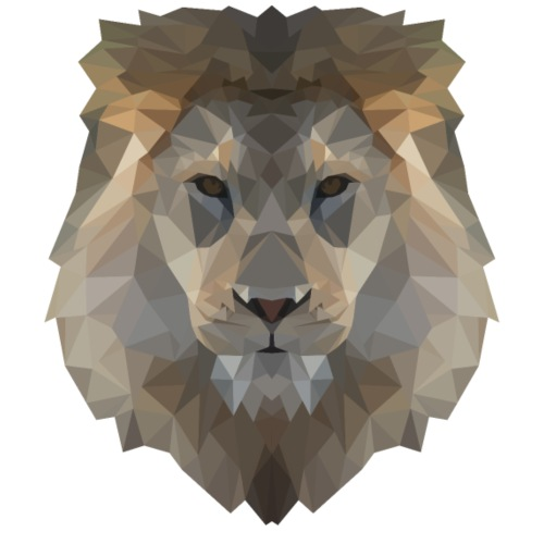 Lion Head - Männer Premium T-Shirt