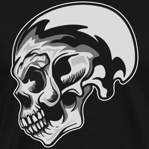 CALAVERA PLATEADA - Camiseta premium hombre