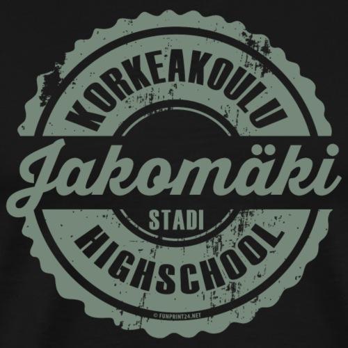 77V-JAKOMÄEN KORKEAKOULU - Stadi, Helsinki - Miesten premium t-paita