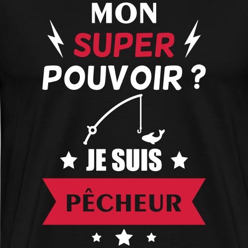 super pêcheur,cadeau pêche,fête des pères - T-shirt Premium Homme