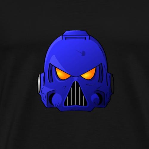 Ultramarine Space Marine Helmet - Men's Premium T-Shirt