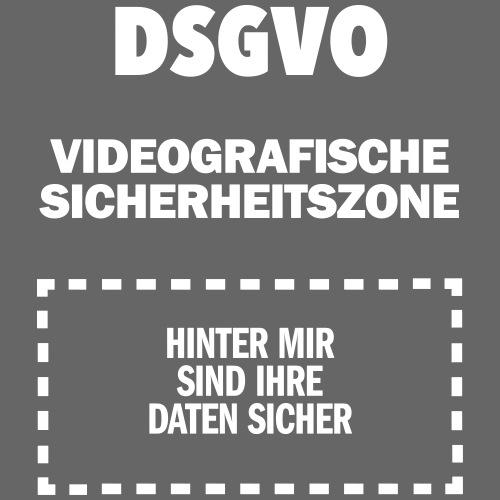 DSGVO-Video weiß HINTEN - Männer Premium T-Shirt