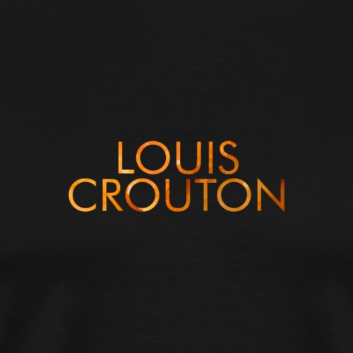 Louis Crouton Text Clean - Herre premium T-shirt