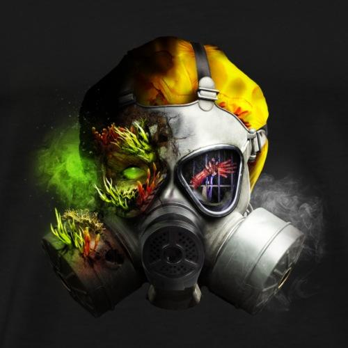 Frygt Fængslet gasmaske - Herre premium T-shirt