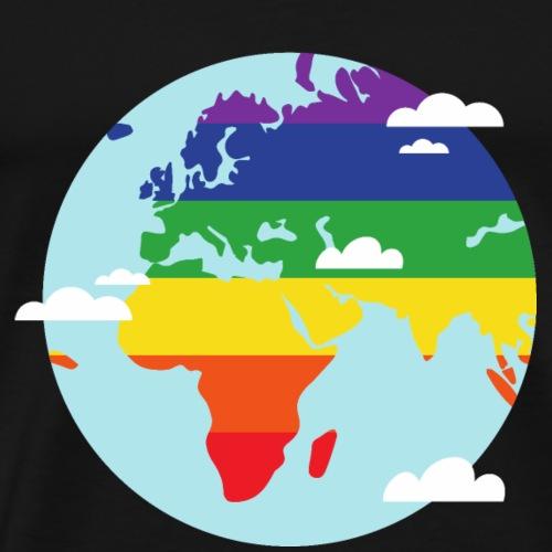 Erde | Regenbogen | LGBT - Männer Premium T-Shirt