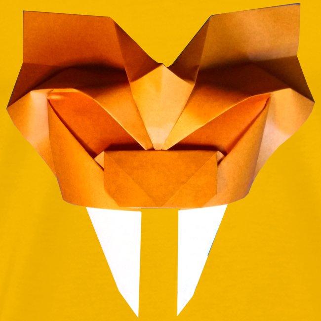 Origami Saber Toothed Tiger Mask - Origami Tiger