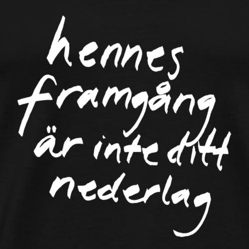 Flora Wistroem vit - Premium-T-shirt herr