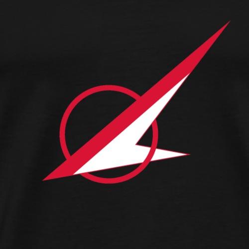 Øst Sjællands flyveklub Logo (u.tekst hvidt fly) - Herre premium T-shirt
