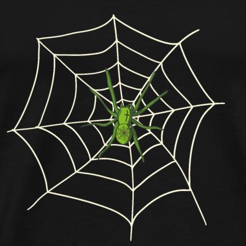 Spinne im Netz - Männer Premium T-Shirt