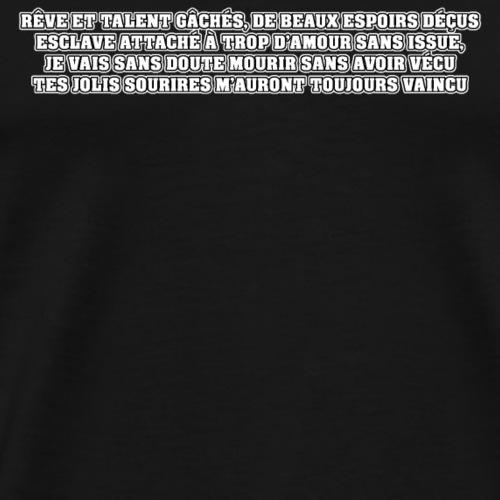 VÉCU VAINCU - Poème - Francois Ville - T-shirt Premium Homme