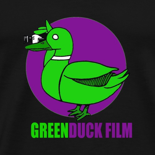 Greenduck Film Purple Sun Logo - Herre premium T-shirt