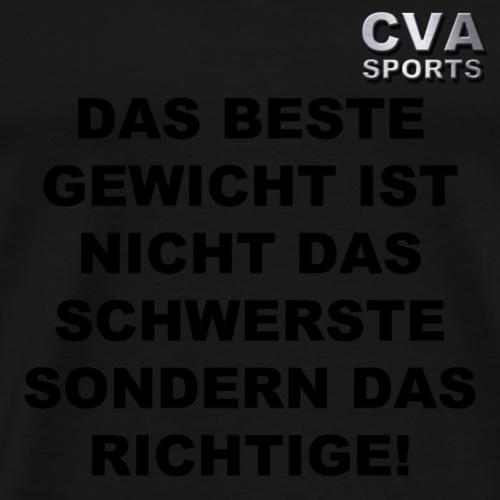 DAS BESTE GEWICHT - Männer Premium T-Shirt