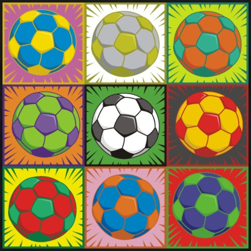 Soccer (Football) Pop Art - Men's Premium T-Shirt