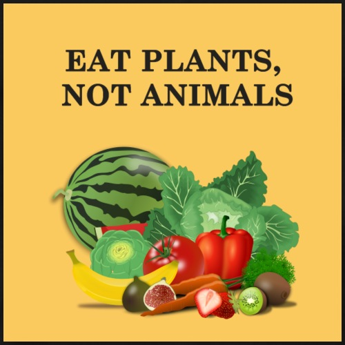 Eat plants, not animals - T-shirt Premium Homme