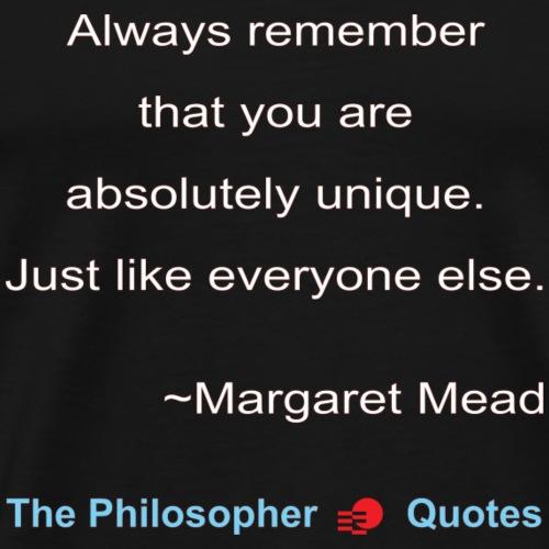 Margaret Mead Unique Philosopher w - Mannen Premium T-shirt