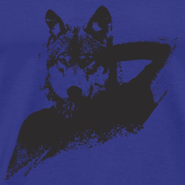 illustration zoom loup noir
