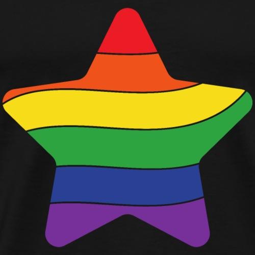 Regenbogen Stern | Pride - Männer Premium T-Shirt