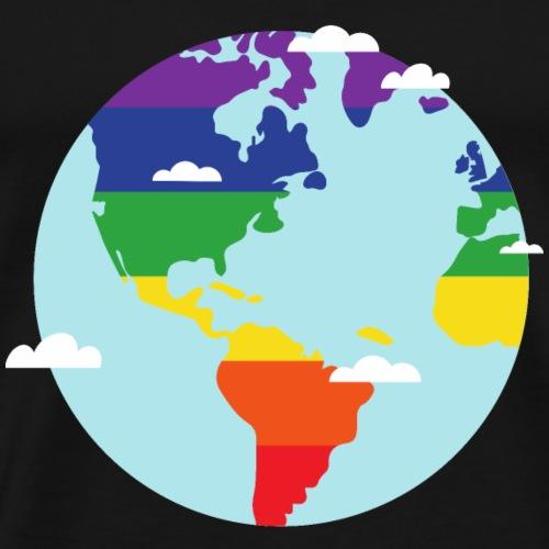 Erde | Regenbogen | LGBT | Amerika - Männer Premium T-Shirt