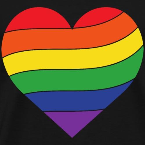 Regenbogen Herz | Pride - Männer Premium T-Shirt