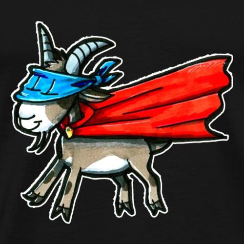 Super chèvre Super chèvre Super-héros Cadeau Drôle - T-shirt Premium Homme