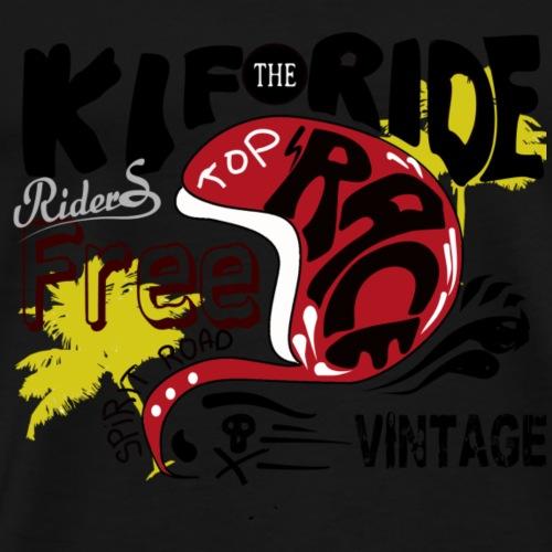 vintage moto - T-shirt Premium Homme