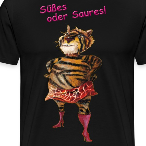 Halloween | Tiger | Süßes oder Saures - Männer Premium T-Shirt