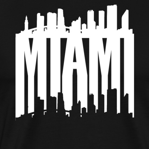 Miami Skyline Silhouette - Men's Premium T-Shirt