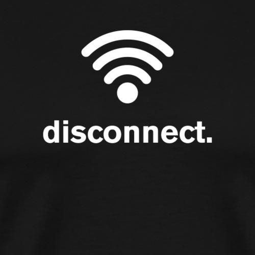 Disconnect (white) - Men's Premium T-Shirt