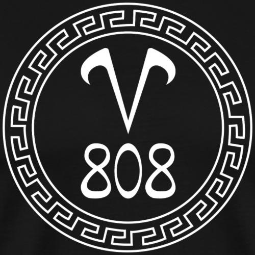 V808 Méduse Blanche - T-shirt Premium Homme