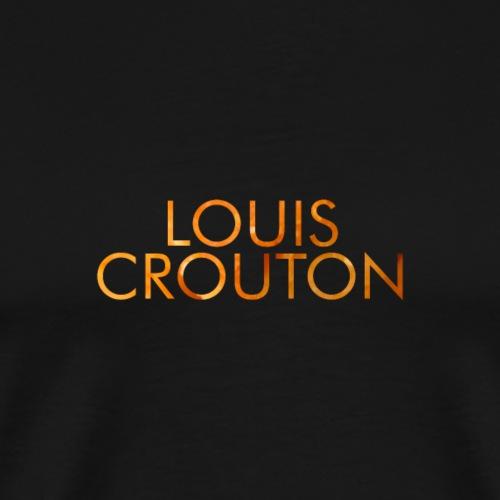 Louis Crouton Text Clean - Herre premium T-shirt