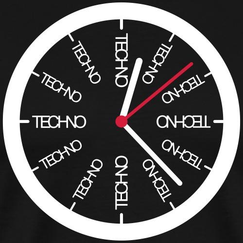 Techno Uhr Clock Rave All Day Clubbing DJ Watch - Männer Premium T-Shirt