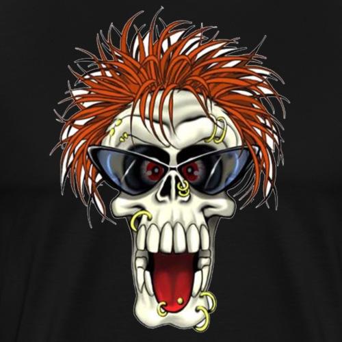 Calavera metalera - Camiseta premium hombre
