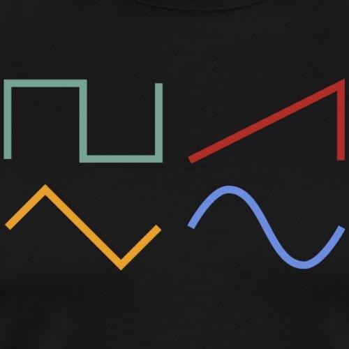 WAVEFORMS - Männer Premium T-Shirt
