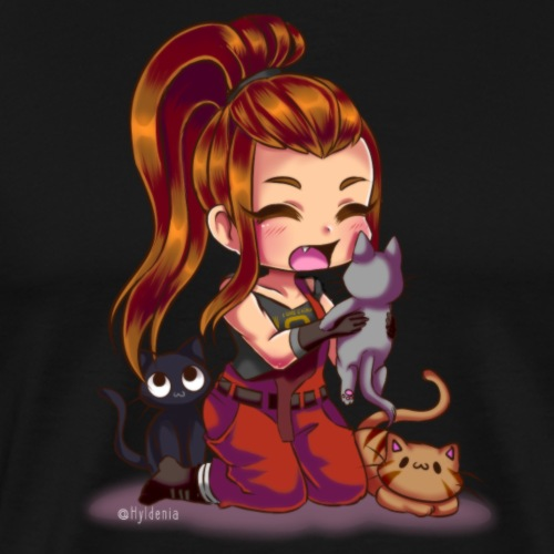 Brigitte and cats - T-shirt Premium Homme