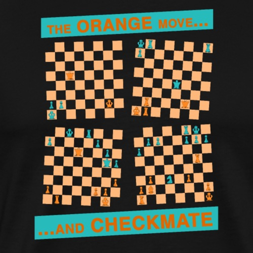 The ORANGE move… and CHECKMATE - Tower - Maglietta Premium da uomo