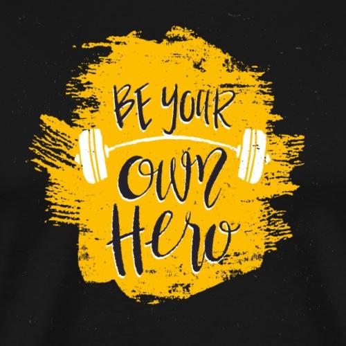 GYM Hero - Miesten premium t-paita