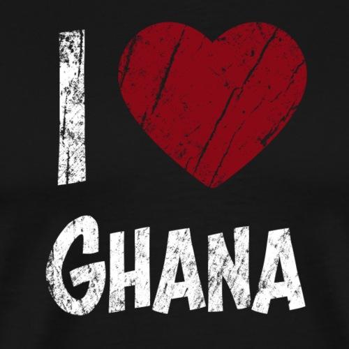 I Love Ghana - Miesten premium t-paita