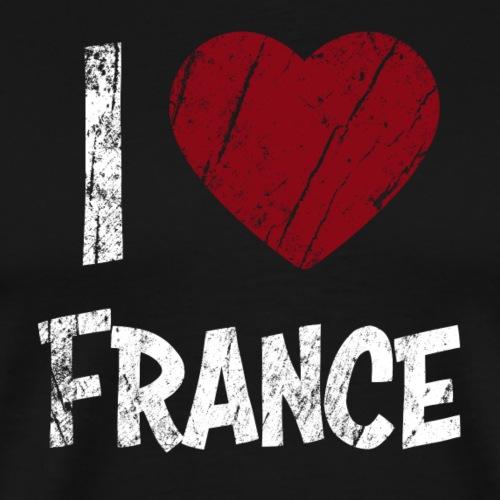I Love France - Miesten premium t-paita