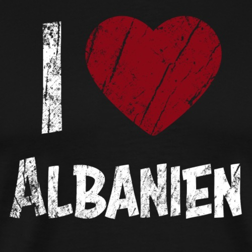 I Love Albania - Miesten premium t-paita