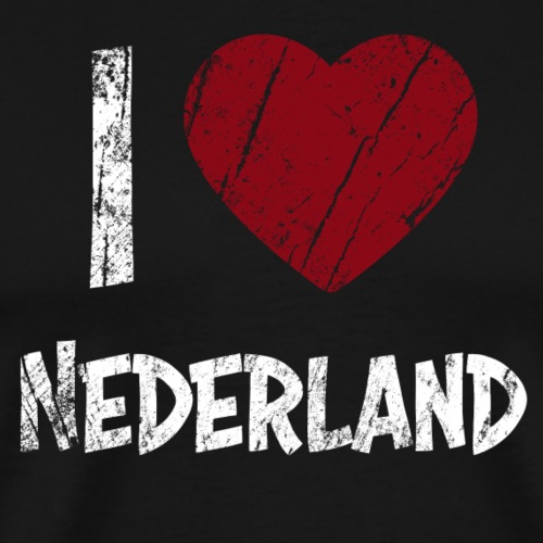 I Love Nederland - Miesten premium t-paita